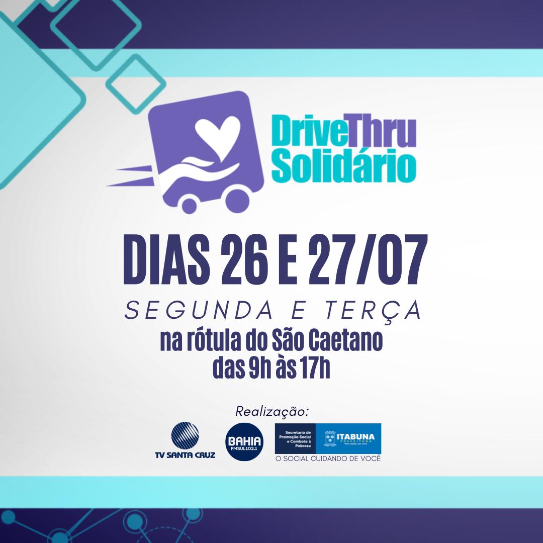 Aniversário de Itabuna será celebrado com ação solidária nos dias 26 e 27 de julho